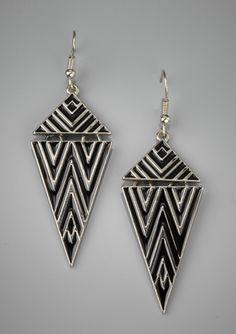 LOLA Enamel Triangle Earrings