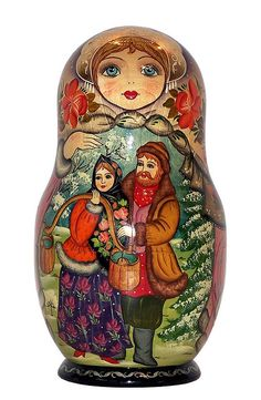 Winter Matryoshka, Very Similar to Mine. http://www.pinterest.com/MatryoshkasSoap/one-of-a-kind-matryoshka/