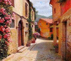 paisajes en pinturas hiperrealistas al oleo