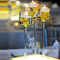 Deco vintage mariage wedding petits vases fleur uni - Grand verre a pied pour decoration ...