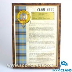 Bell Clan History Print