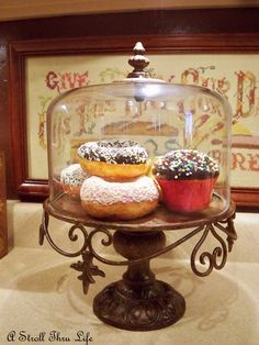 Wrought iron looking cake stand - so pretty!