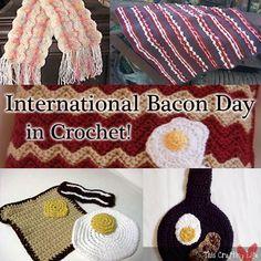 Celebrate Bacon with 5 Free Crochet Patterns! at mooglyblog.com