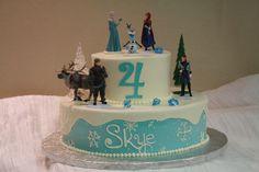 Disney Frozen theme birthday cake. Dessert Works Bakery. Westwood, MA
