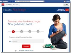 Now recharge your Aircel number through Facebook - TechFriend.IN