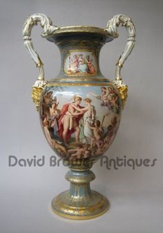 A Meissen Vase both rare & beautifully decorated. 1870.