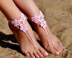 Crochet sandalias Descalzas joyería accesorios por FancyFeetsTeam