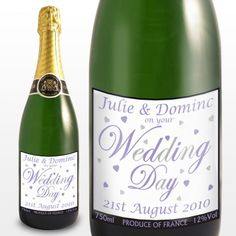 Personalised Wedding Champagne.
