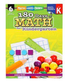 Look what I found on #zulily! Kindergarten 180 Days of Math Workbook Set #zulilyfinds