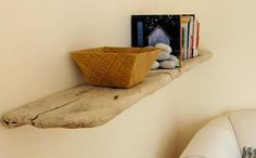 Drift wood shelf