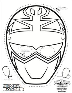 It is a photo of Witty Power Ranger Mask Printable
