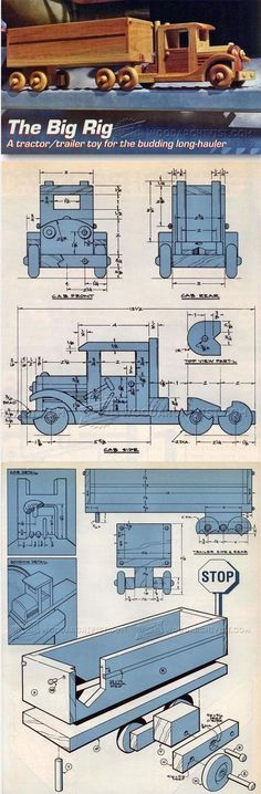 Wooden Toy Truck Plans - Wooden Toy Plans and Projects | WoodArchivist.com #woodworkingplans