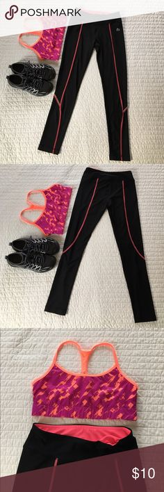 RBX Fitness Legging - Size S Black and pink Fitness Legging  EUC  super comfy and chic - get those New Years resolutions started! RBX Pants Leggings
