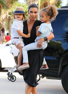 Kim Kardashian Mason Disick Photos: Kim And Kourtney Kardashian Take Mason To The Miami Children's Museum