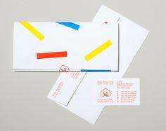 Logo, headed paper, envelope and business card designed by Studio Lin for Tokyo homeware store Minke