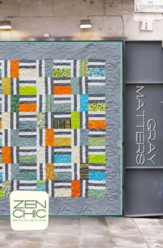 Gray Matters by Zen Chic. Also love the quilting on this.