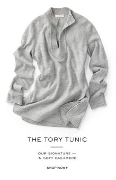 Shop the Cashmere Tory Tunic
