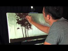 Time Lapse Acrylic Landscape Forest Painting Missing Red Trees by Tim Gagnon. Visit Tim Gagnon Studio at http://www.timgagnon.com/ for more information and online lessons.