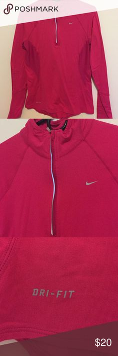 💖NEW LISTING Nike Nike dry fit. Longsleeve workout pullover.  Has been a lesion under the arms. And zipper top up through collar.Very good condition! Please feel free to ask any questions! Nike Other