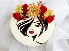 Как перевести шоколадные контуры на торт\ How to transfer chocolate circuits to a cake - YouTube Cakes For Women, Painted Cakes, Plated Desserts, Fancy Cakes, Food Decoration, Easy Cake Decorating, Desert Recipes, Buttercream Flowers, Buttercream Cake