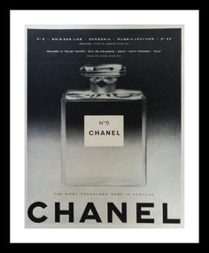 Iconic No. 5 Chanel Cologne Perfume.  BW Photo. Fashion Statement.  1955.  13 x 10.  Ready for Framing. by bluemtcreative2 on Etsy