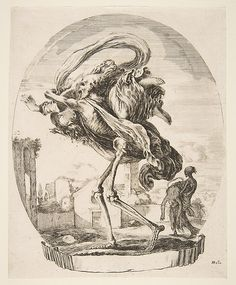 Etched by Stefano della Bella (Italian, 1610–1664). Death Carrying Off a Woman, ca. 1648. The Metropolitan Museum of Art, New York. The Elisha Whittelsey Collection, The Elisha Whittelsey Fund, 1959 (59.570.379(4)).