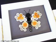 My Creative Stirrings: Butterfly Button Art Piece