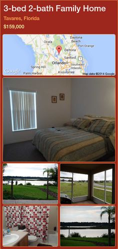3-bed 2-bath Family Home in Tavares, Florida ►$159,000 #PropertyForSaleFlorida http://florida-magic.com/properties/32590-family-home-for-sale-in-tavares-florida-with-3-bedroom-2-bathroom