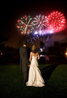 Wedding finale with fireworks. SuperShow Fireworks can help you create the perfect custom show.