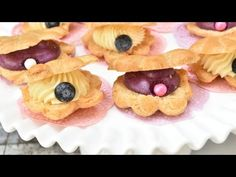 Seashell Cream Puffs with Blueberry Mouse - YouTube