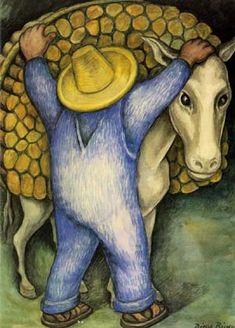 Loading Wood - Diego Rivera
