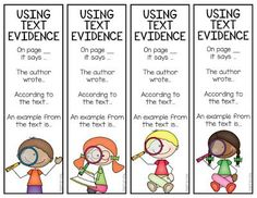 Text Evidence Bookma