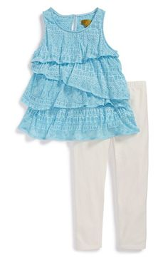 Nicole Miller Ruffle Tunic & Leggings (Baby Girls) available at #Nordstrom