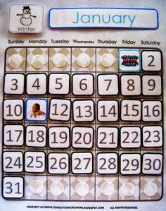 four little munchkins: Printable Classroom & Homeschool Calendar