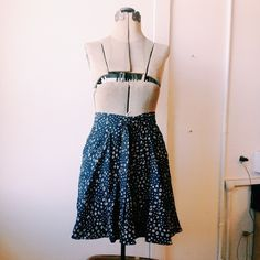p r i n t  s k i r t Anthony skirt, gray with tie in front. Great fit and fabric Anthropologie Dresses