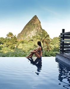 Book a stay at our boutique Boucan hotel, spa & fine dining restaurant featuring our pioneering cacao cuisine set among cocoa groves in St Lucia from Hotel Chocolat Hotel Chocolat Oh The Places You'll Go, Places To Travel, Travel Destinations, Places To Visit, Dream Vacations, Vacation Spots, Beautiful Pools, Beautiful Places, St. Lucia