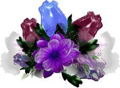 Flowers glitter gifs