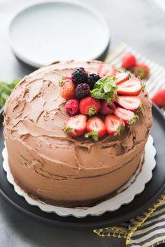Cabernet Dark Chocolate Cake