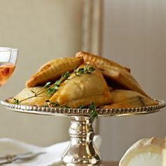 Mushroom Turnovers | Williams-Sonoma. Thanksgiving Appetizer. Use homemade puff pastry on Annie's Eats blog.