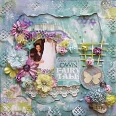 Live Your Own Fairy Tale - Bo Bunny - Enchanted Garden Collection - 12 x 12 Double Sided Paper - Pathway http://www.scrapbook.com/gallery/image/layout/5291957.html#bgKUQBEvPmKRu02Y.99