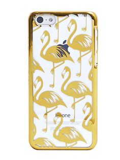 Details Our Gold Flamingo 5C case is designed to stand out with all over flamingo print and gold rim. Taking style notes from the latest trends, this perspex case doesn't only look great, it offers premium protection against bumps and drops.    Comes with free Screen Protector Covers Back and Sides of Phone Access to all Ports with cut away detailing Slim & Lightweight Material: Plastic   Delivery & Returns UK Standard Delivery - £2.95 UK Next Working Day Delivery - £6.95 UK Expres...