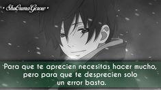 Para que te Aprecien #ShuOumaGcrow #Anime #Frases_anime #frases