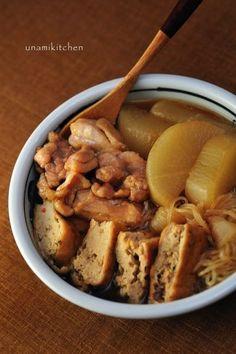 大根と鶏肉とがんもどきの煮物 by unaunamiさん   レシピブログ - 料理 ...