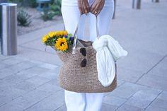 Raffia bag and scarf fabfound @ marshalls for $10. summer bag