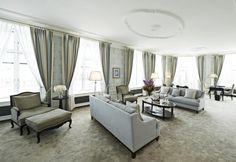 Salón espacioso en unos de los hoteles en Copenhague más lujoso