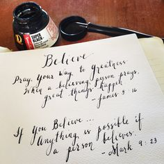BELIEVE  James 5:16 and Mark 9:23