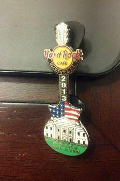 Hard Rock Cafe Washington DC 2013 Inauguration Guitar Pin.