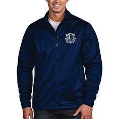 Dallas Mavericks Antigua Golf Full Zip Jacket - Navy
