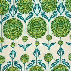 Joel Dewberry - Birch Farm - Chrysanthemum - Peacock : Sew Modern