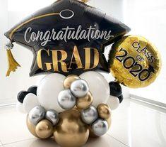 Balloon Ideas, Balloon Arch, The Balloon, Balloon Decorations, Graduation Balloons, Custom Balloons, Masquerade Party, Helium Balloons, Balloon Bouquet